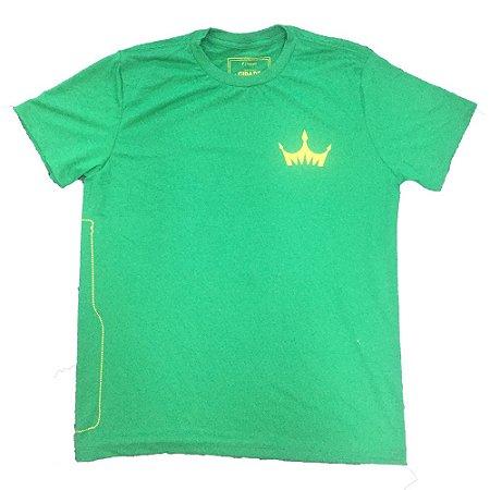 Camiseta MASCULINA Cerveja Império Lager verde com coroa estampada