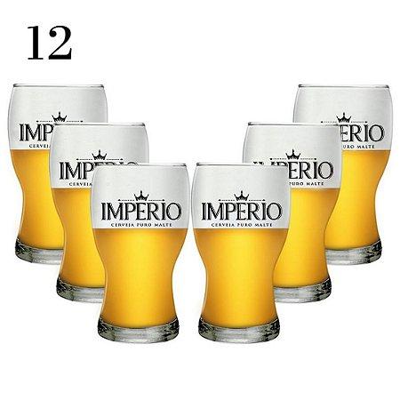 Conjunto com 12 Copos Amsterdam 215ml Cerveja Império