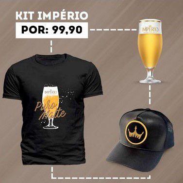 Kit Império - 1 Taça, 1 Boné Império, 1 Camiseta Império Puro Malte