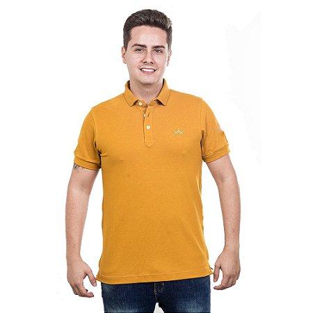Camiseta Polo Império com Coroa Bordada - Amarela