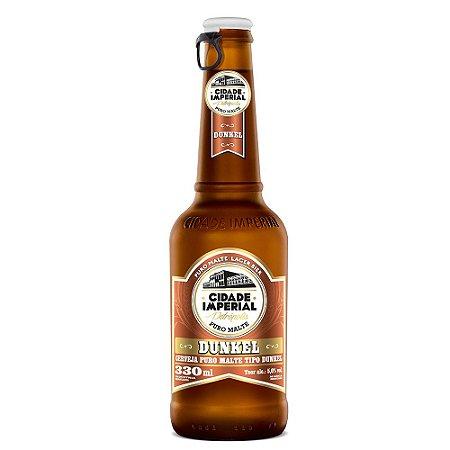 Cerveja Cidade Imperial Dunkel Long Neck 330ml com tampa abre fácil