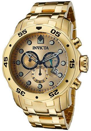 6b3407131ae Relógio Invicta Pro Diver Dourado 0074 Masculino - Perfume Importado ...