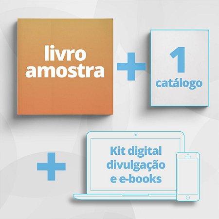 COMBO Consultor - Material de divulgação com Livro Amostra + 1 Catálogo + Pack digital de divulgação e e-books.