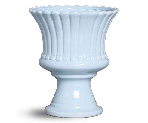 Cachepot cerâmica azul G