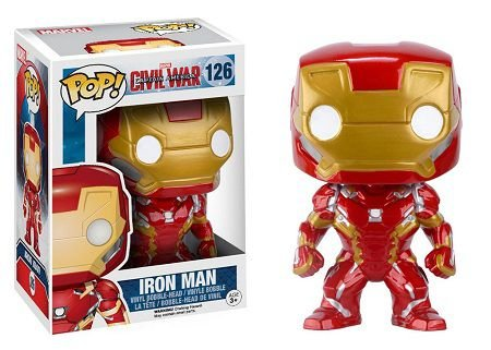 Bonecos Funko Pop Brasil - Marvel - Civil War - Iron man