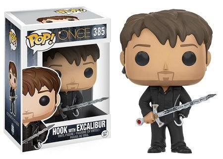 Bonecos Funko Pop Brasil - Once Upon A Time - Hook with Excalibur