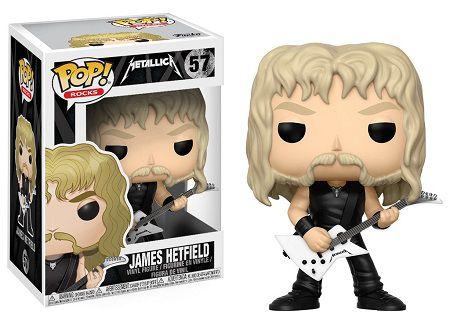 Bonecos Funko Pop Brasil - Metallica - James Hetfield