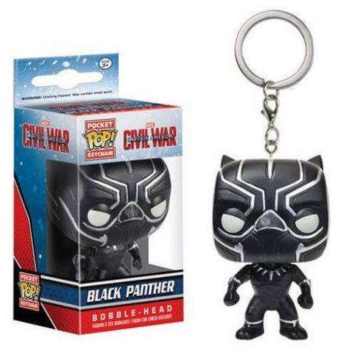 Chaveiro Funko Pocket Pop Brasil - Black Panther