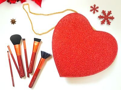 Heart In Luv - glitter vermelho