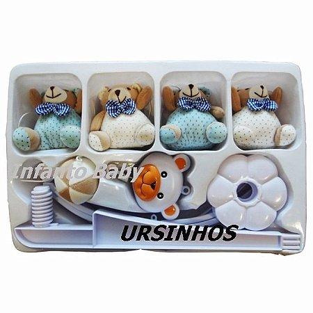 Móbile Giratório Musical Para Berço Bebê Criança - Ursinhos