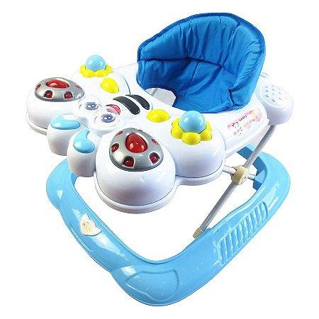 Andador Bebê Infantil Musical Bichos Abelha Azul - Baby Style