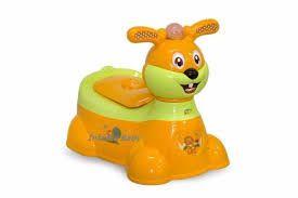 Troninho Infantil Musical Cachorrinho Baby Style - LARANJA