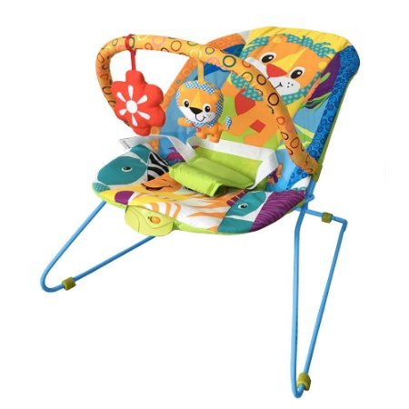 Cadeira Bebê Descanso Vibratória Music Lite Safari  Baby Style