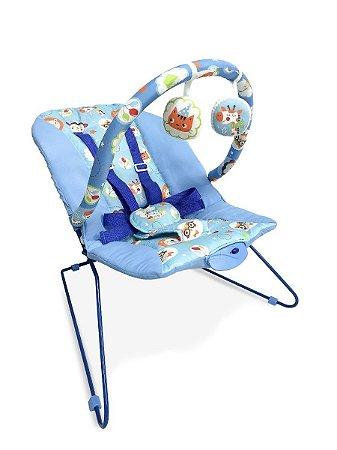 Cadeira Bebê Descanso Vibratória Music Lite  Azul-  Baby Style