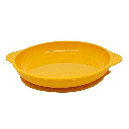 Prato De Silicone Com Sucção Amarelo -  Marcus & Marcus
