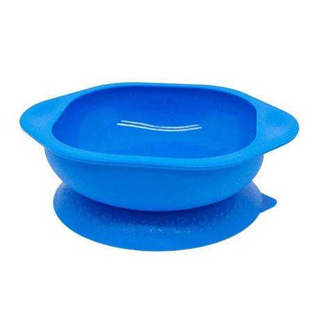 Tigela de Silicone com Sucção Azul - Marcus & Marcus