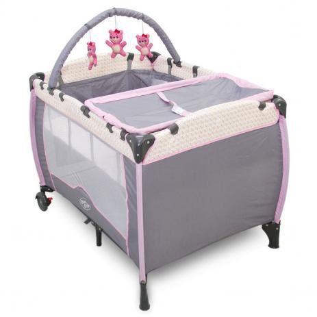 Berço Cercado Plus Rosa - Baby Style