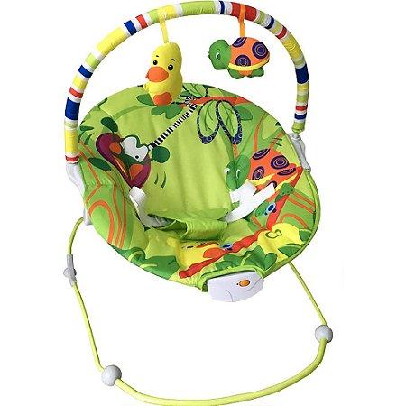 Cadeirinha de Descanso Vibratória Poly Verde - Baby Style
