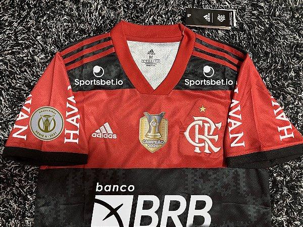Camisa Flamengo BRASILEIRÃO 2021 (Uniforme 1) - Modelo Torcedor (com patrocínios)