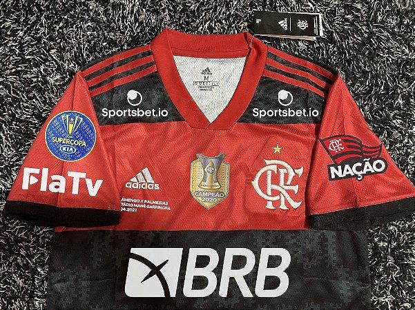 Camisa Flamengo SUPERCOPA DO BRASIL 2021 (Uniforme 1) - Modelo Torcedor (com patrocínios)