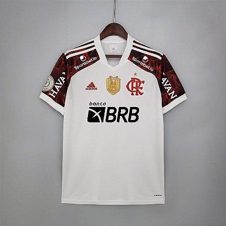 Camisa Flamengo BRASILEIRÃO 2021 (Uniforme 2) - Modelo Torcedor (com patrocínios)