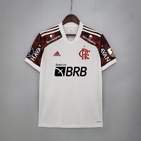 Camisa Flamengo LIBERTADORES 2021 (Uniforme 2) - Modelo Torcedor (com patrocínios)