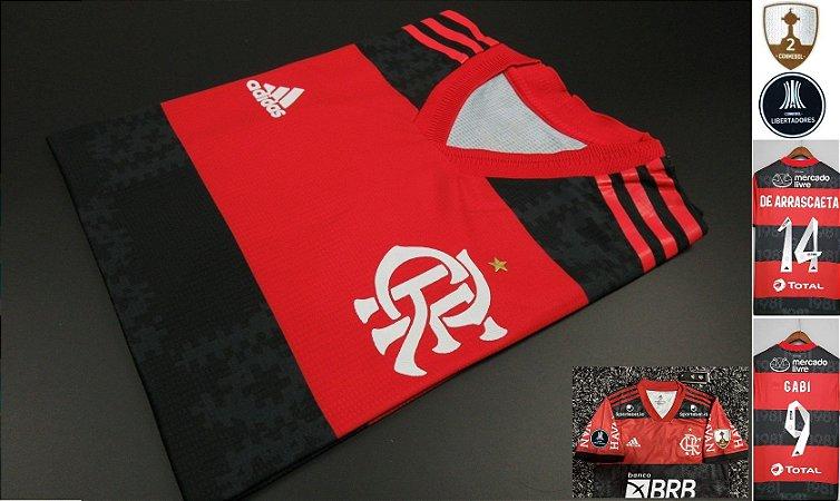 Camisa Flamengo LIBERTADORES 2021 (Uniforme 1) - Modelo Jogador (com patrocínios)