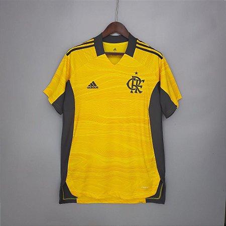 Camisa Flamengo 2021 (Goleiro - Uniforme 1) - Modelo Torcedor (sem patrocínios)