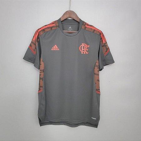 Camisa Flamengo 2021 (treino) - Cinza - (sem patrocínios)