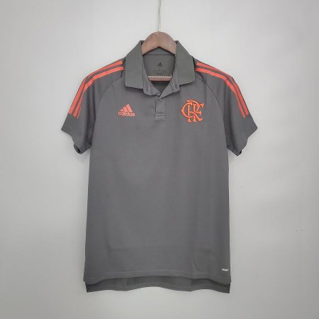 Camisa Flamengo 2021 (Polo) - Cinza