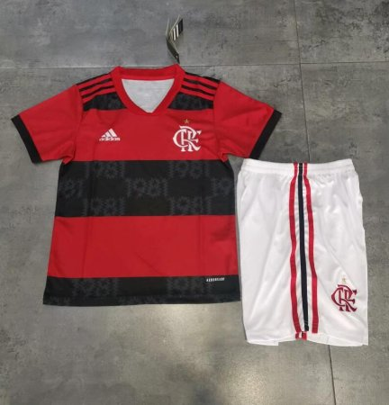 Conjunto Infantil (Camisa + Shorts) Flamengo 2021 (Home-Uniforme 1)
