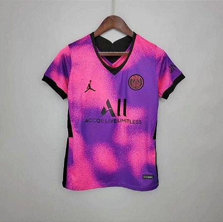 """Camisa Paris Saint Germain """"PSG"""" 2020-21  (Fourth-Uniforme 4)  - Feminina"""