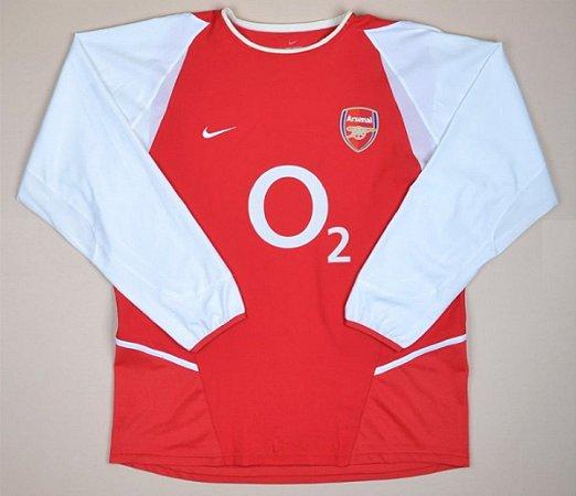 Camisa Arsenal 2002-2003 (Home-Uniforme 1) - Manga Longa