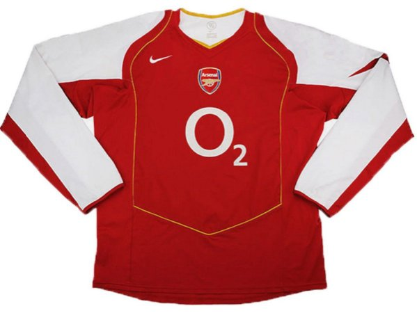 Camisa Arsenal 2004-2005 (Home-Uniforme 1) - Manga Longa