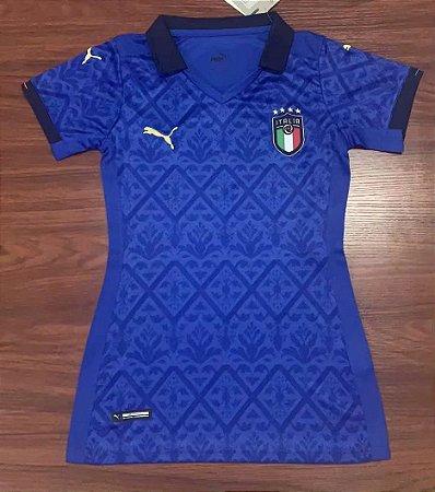Camisa Itália 2020-21  (Home-Uniforme 1)  - Feminina