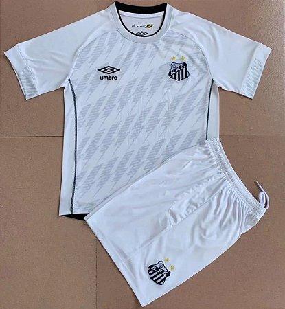 Conjunto Infantil (Camisa + Shorts) Santos 2021-22 (Home-Uniforme 1)
