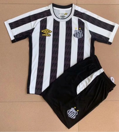 Conjunto Infantil (Camisa + Shorts) Santos 2021-22 (Away-Uniforme 2)