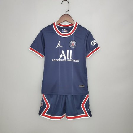 "Conjunto Infantil (Camisa + Shorts) Paris Saint Germain ""PSG"" 2021-2022 (Home-Uniforme 1)"