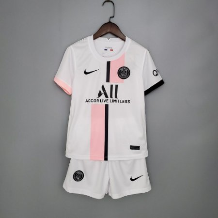 "Conjunto Infantil (Camisa + Shorts) Paris Saint Germain ""PSG"" 2021-2022 (Away-Uniforme 2)"