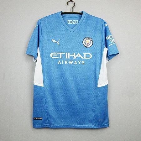 Camisa Manchester City 2021-22 (Home-Uniforme 1)
