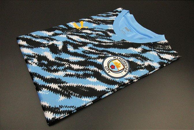 Camisa Manchester City Graphic (Azul e Preta)
