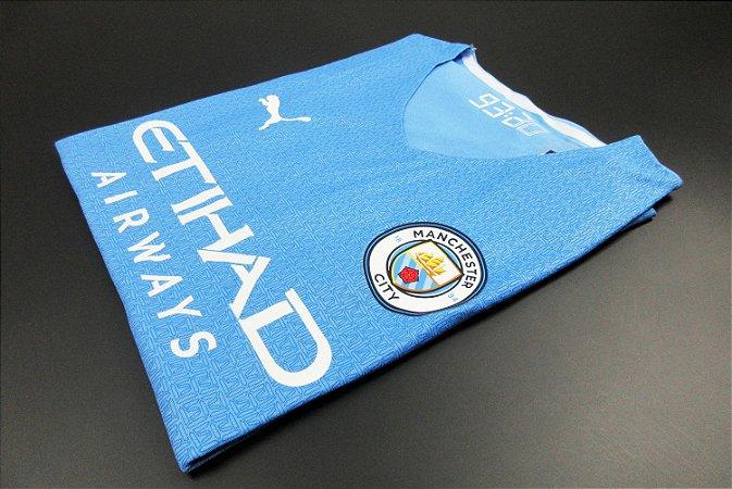 Camisa Manchester City 2021-22 (Home-Uniforme 1) - Modelo Jogador