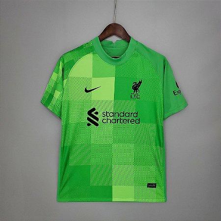 Camisa Liverpool 2021-22 (Home - Uniforme 1) - Goleiro