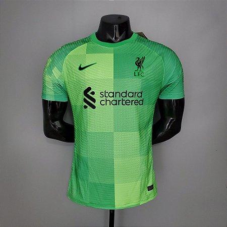 Camisa Liverpool 2021-22 (Home-Uniforme 1) - Goleiro - Modelo Jogador