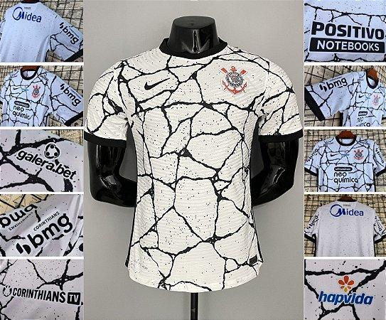 Camisa Corinthians 2021-22 (Uniforme 1) - Modelo Jogador (com patrocínios)