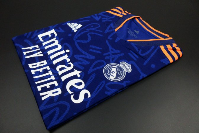 Camisa Real Madrid 2021-22 (Away-Uniforme 2) - Modelo Jogador