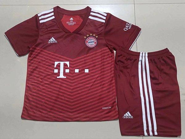 Conjunto Infantil (Camisa + Shorts) Bayern Munich 2021-22 (Home-Uniforme 1)