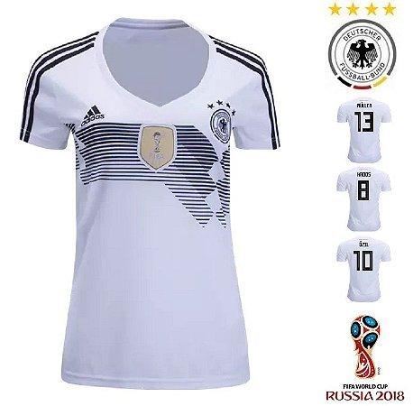 Camisa Alemanha 2018 (Home-Uniforme 1) - Feminina - ACERVO DAS CAMISAS 511df7ace08c2