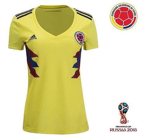 397e25af6 Camisa Colômbia 2018 (Home-Uniforme 1) - Feminina - ACERVO DAS CAMISAS