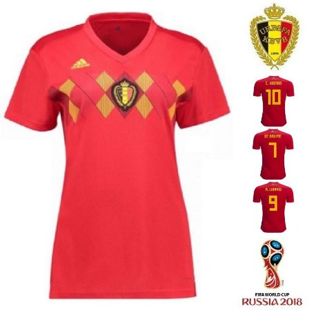 cbdedecfc9 Camisa Bélgica 2018 (Home-Uniforme 1) - Feminina - ACERVO DAS CAMISAS